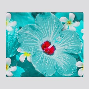 Blue Hawaii Throw Blanket