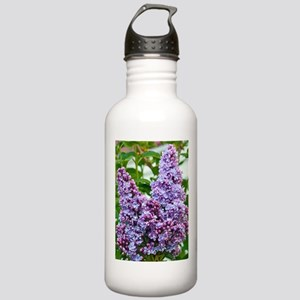 Purple lilac flowers Stainless Water Bottle 1.0L