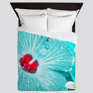 Blue Hawaii Queen Duvet