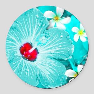 Blue Hawaii Round Car Magnet