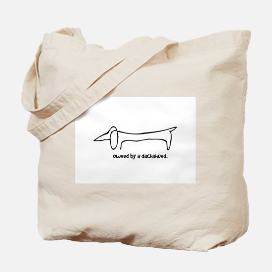 Owned by a Dachshund Tote Bag