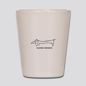 Owned by a Dachshund Shot Glass
