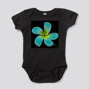 Turquoise Yellow White Flower Baby Bodysuit
