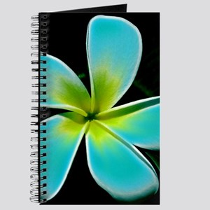 Turquoise Yellow White Flower Journal