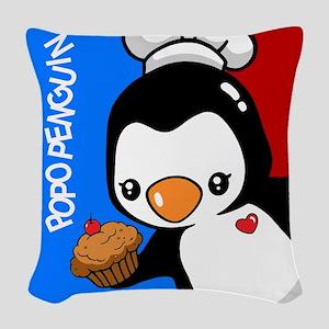 Chef Penguin Woven Throw Pillow