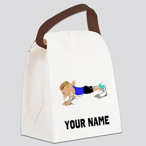 Push Ups Canvas Lunch Bag