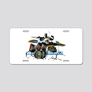 Drummer Aluminum License Plate