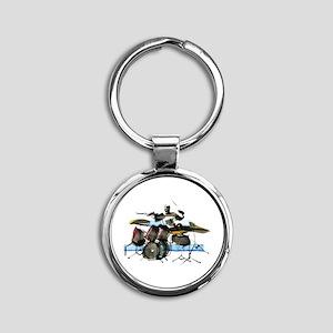 Drummer Round Keychain
