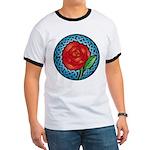 Celtic Rose Stained Glass Ringer T