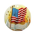 Vintage Old American Ornament (Round)