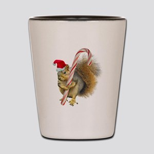Squirrel Candy Cane Shot Glass