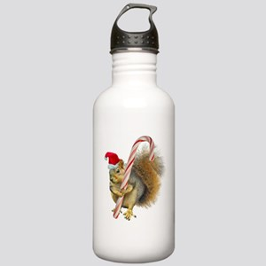 Squirrel Candy Cane Water Bottle