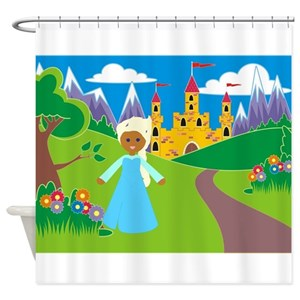 African Princess Shower Curtains