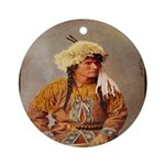 Native American Ornament (Round)