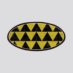 TRIANGLE2 BLACK MARBLE & YELLOW LEATHER Patch