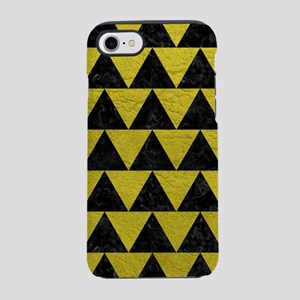 TRIANGLE2 BLACK MARBLE & YEL iPhone 8/7 Tough Case