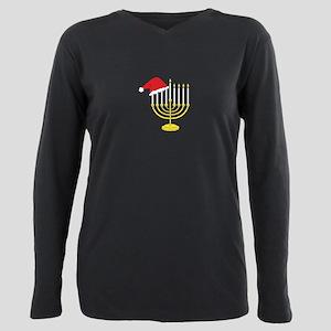 Hanukkah And Christmas Plus Size Long Sleeve Tee