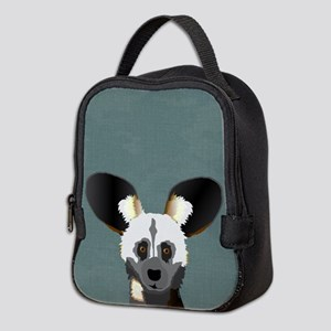 African Wild Dog Neoprene Lunch Bag