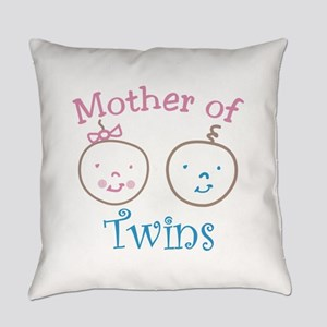 Mother of Twins Everyday Pillow