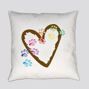 paw hearts Everyday Pillow