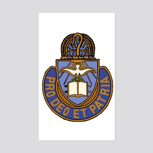 Chaplain Crest Rectangle Sticker