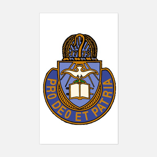 Chaplain Crest Rectangle Decal