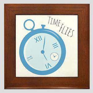 Time Flies Framed Tile