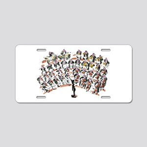 orchestra Aluminum License Plate