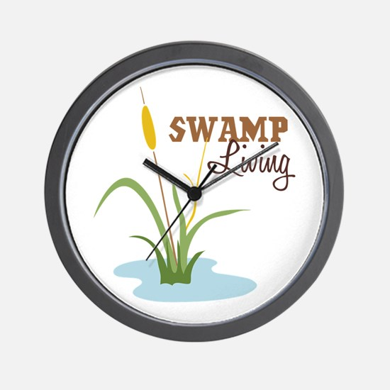 Swamp Living Wall Clock