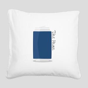 Diet Please Square Canvas Pillow