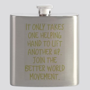 One Helping Hand Flask