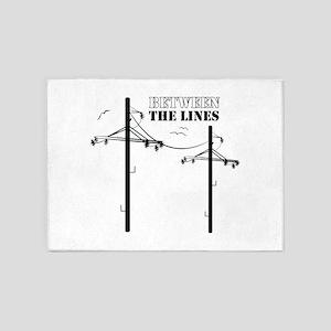 Between The Lines 5'x7'Area Rug