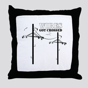 Wires Got Crossed Throw Pillow