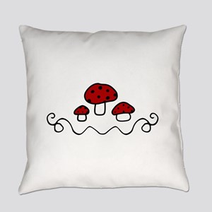 Red Mushrooms Everyday Pillow