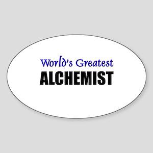Worlds Greatest ALCHEMIST Oval Sticker