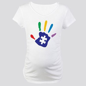 Autism Puzzle Hand Maternity T-Shirt