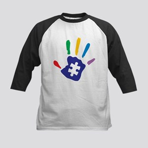 Autism Puzzle Hand Baseball Jersey