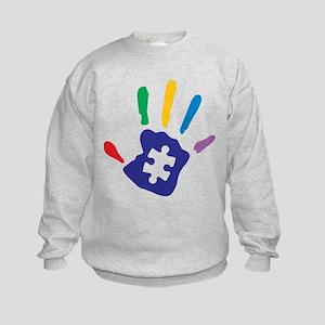 Autism Puzzle Hand Sweatshirt