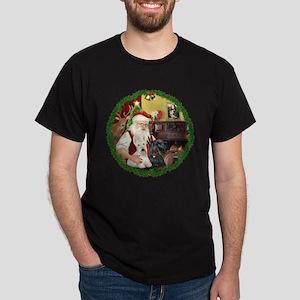 Santa's Two Scotties (P2) Dark T-Shirt