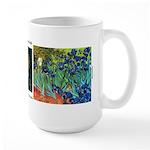 Irises by van Gogh Large Mug