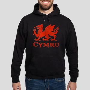 cymru wales welsh cardiff dragon Hoodie (dark)