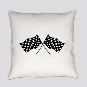 Checkered Flags Everyday Pillow