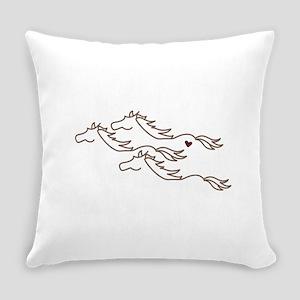 Wild Horses Everyday Pillow