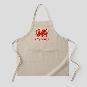 cymru wales welsh cardiff dragon Apron