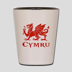 cymru wales welsh cardiff dragon Shot Glass