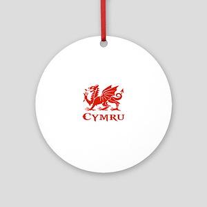 cymru wales welsh cardiff dragon Round Ornament