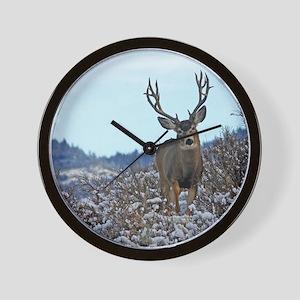 Western Mule Deer buck Wall Clock