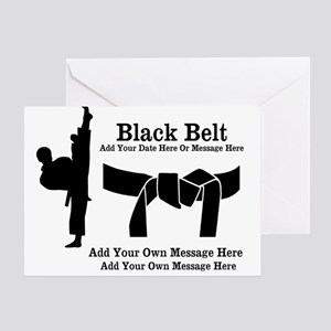 Black Belt Party Invitation Greeting Cards