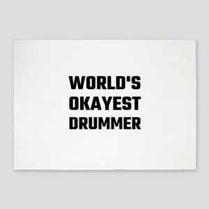 World's Okayest Drummer 5'x7'Area Rug