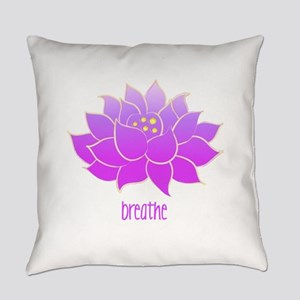 breathe lotus Everyday Pillow